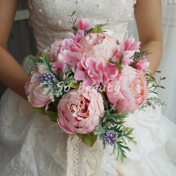 Peony Bridal Bouquet Wedding Bouquets Bride Girl Flowers Home