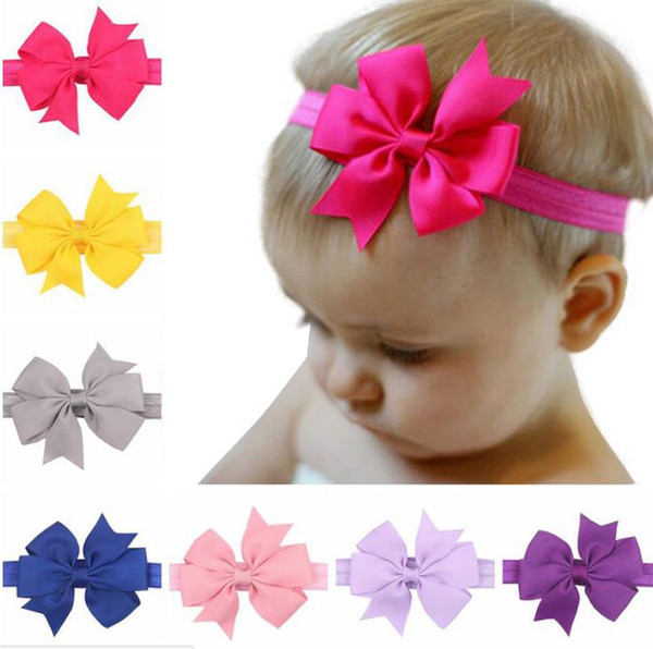 100 pcs/lot Baby Headband Top Knot Headbands 100% Cotton Newborn Headwrap Girl Large Hair Bows 0-12 months Baby Headwear