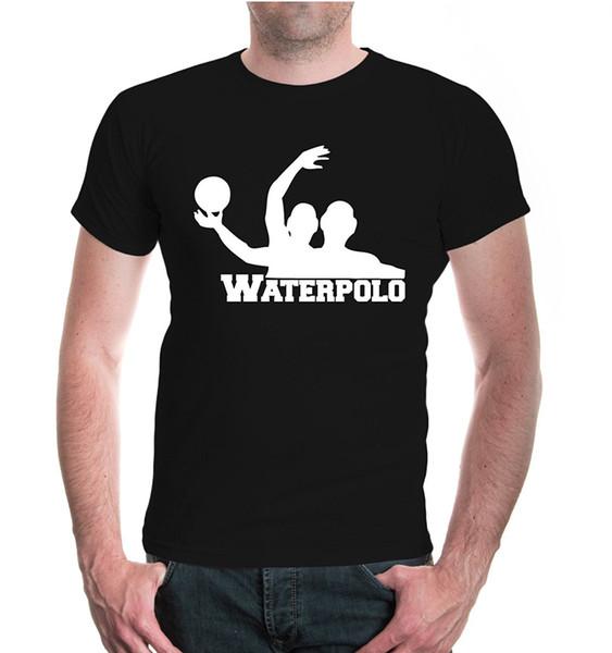 Yeni 2019 T Gömlek Erkekler O Boyun Pamuk T-Shirt Waterpolo Kendi T Gömlek Yap