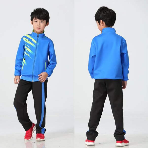 Children's blue with black pants