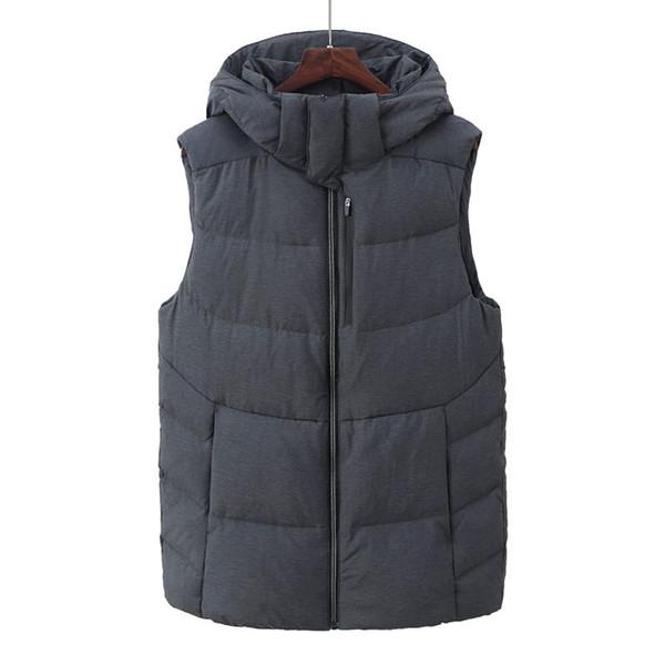 Moda marka 2018 Yeni Erkekler Rahat aşağı sıcak yelek tüy weskit ceketler erkek rahat aşağı yelek ceket erkek ceket kaban A8
