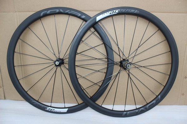 38mm ROVAL CLX40 Fahrrad Laufradsatz Fahrrad Laufradsatz schwarzer Lack G3 Carbon Tubular Laufradsatz Rennrad Laufräder