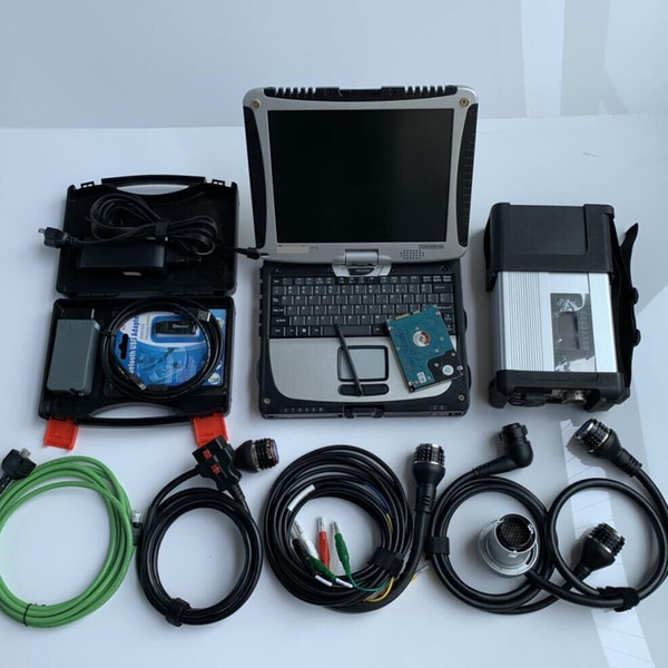 mb star c5 vas5054a full chip 2in1 with laptop cf19 touch screen pc for benz audi v/w diagnostic tool
