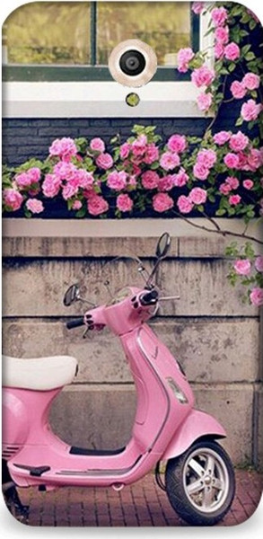 best selling Dynamics 7 Vodafone Smart Style Case Pink Vespa And Roses Patterned Case Ship from Turkey HB-000058287