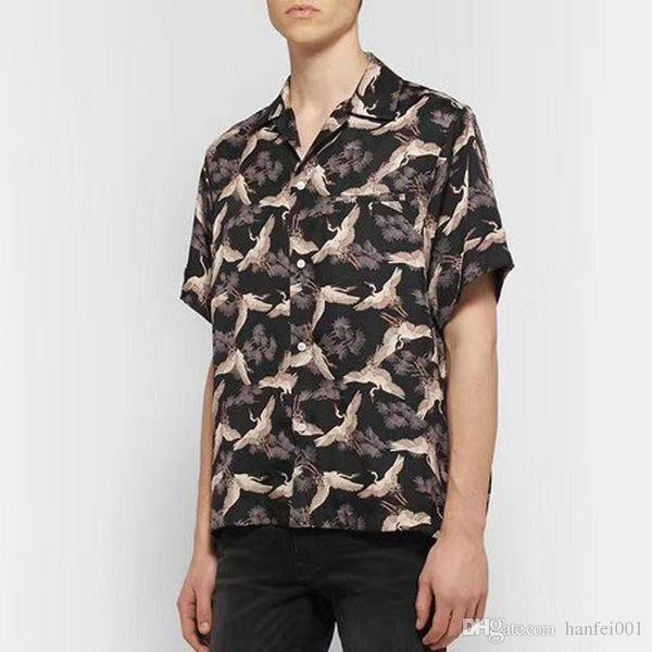 19SS AM1R1 Gru in misto seta T-Shirt Cappotto Top Lusso Primavera Autunno Uomo Donna T-Shirt Casual Via Protezione solare Abbigliamento Tee HFYMTX559