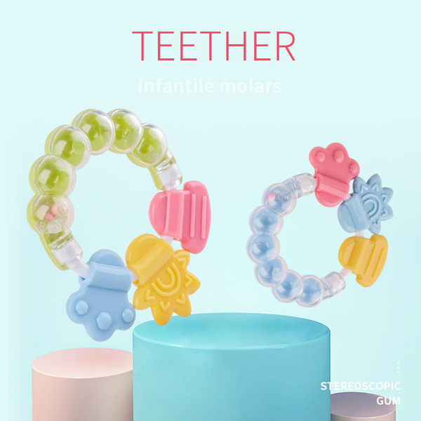 Round Circle Silicone Teething Ring DIY Baby Chew Teether Show Gift BPA Free