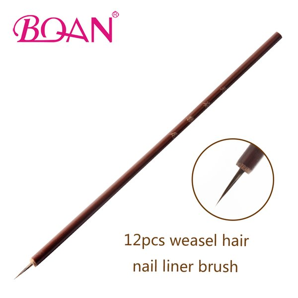 Wholesale weasel brush for sale - Group buy Beauty Health BQAN bag Weasel Hair Brush Bamboo Handle Brush Nail Art Painting Nail Art Brushes