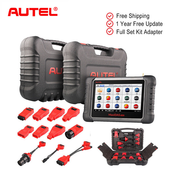100% Original Autel OBD2 Scanner Code Reader Car Diagnostic Tool KIT MaxiDAS DS808K All system Automotive sams as MS906bt