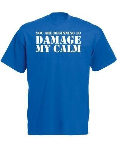 You Are Beginning To Damage My Calm, Mens Printed T-Shirt One Harajuku Summer 2018 Tshirt Brand Shirts Jeans Print