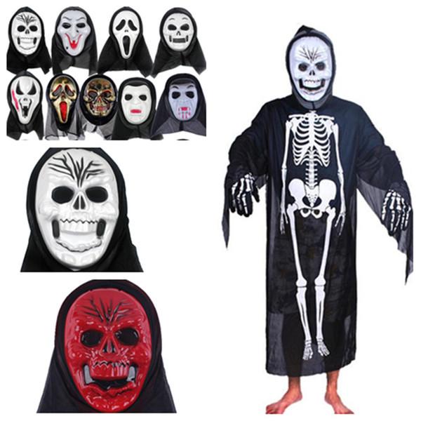 Halloween mask slipknot mask Screaming skeleton grimace props Masquerade mask full face for men women scary maskT2I5349