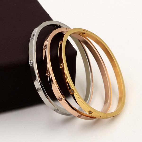Классический браслет женский браслет из нержавеющей стали Красивая Lover И Цирконий Золото Мисс подарок ювелирных изделий