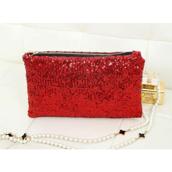 New Arr Retro Luxury Sequins Hand Bag Taking Late Package Clutch Bag Sparkling Dazzling Sequins Clutch Bags Purse Handbag Evenin