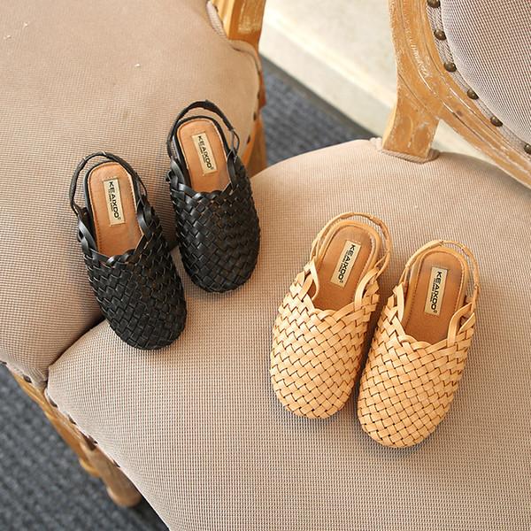 Designer Crianças Sandálias Tecer Estilo Crianças Criança Sapatos Infantis Respirável Confortável Bebê Meninas Meninos Kid Praia Sandália Sapatos