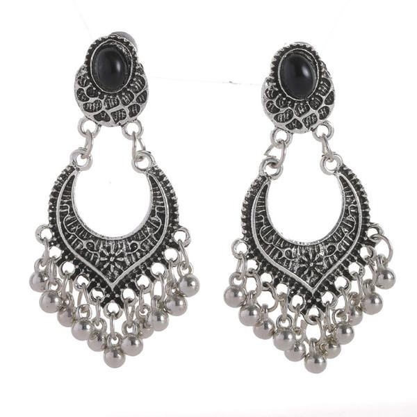 Boho Vintage Drop Dangle Beads Tassel Earrings For Women Bohemian Enamel Jewelry Accessories Fashion Long Earrings