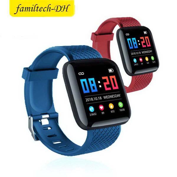 116 PLUS intelligent Bracelet étanche Fitness Tracker Wristwatch pression artérielle moniteur de fréquence cardiaque intelligent Band Femmes Hommes