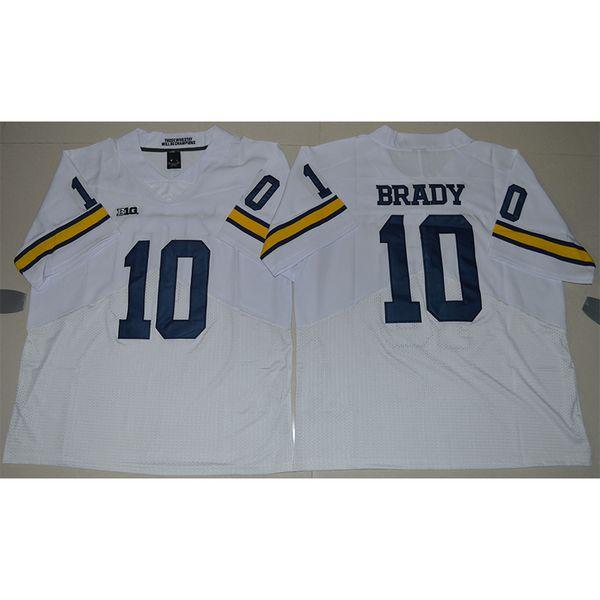 Mens Michigan Wolverines Tom Brady Costurado NameNumber Elite Americano Futebol Americano Jersey Tamanho S-3XL