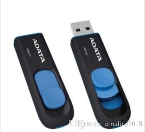 Nuove chiavette USB 2.0 Flash Thumb da 64 GB Flash Pro USB Mini argento girevole in plastica Memory nuovo 32GB 64GB ADATA C008 USB