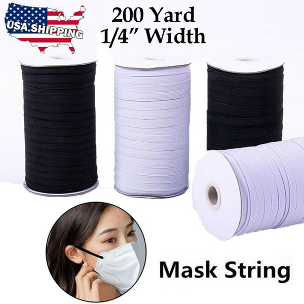 top popular New 1 4 Inch KNITTED ELASTIC Band for Face Cover 200 Yards Sewing Cord String 6mm 2021