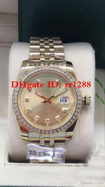 7 couleurs de haute qualité 36mm Président Montres-bracelets Oyster Perpetual Date de 126233 116244 or jaune 18 carats automatique Date de montres Menes montres