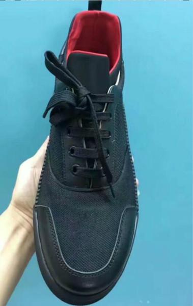 Diseñador de moda Low Top zapatilla de deporte roja zapatos casuales hombre al aire libre con cordones zapatos de fiesta al aire libre con cordones patchwork plana 9 hkj