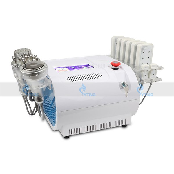 Ультразвуковая 40K кавитация RF вакуум для похудения 8 колодок Lipo Laser Machine для домашнего использования 8 в 1 радиочастотная липосакция двухполярное омоложение