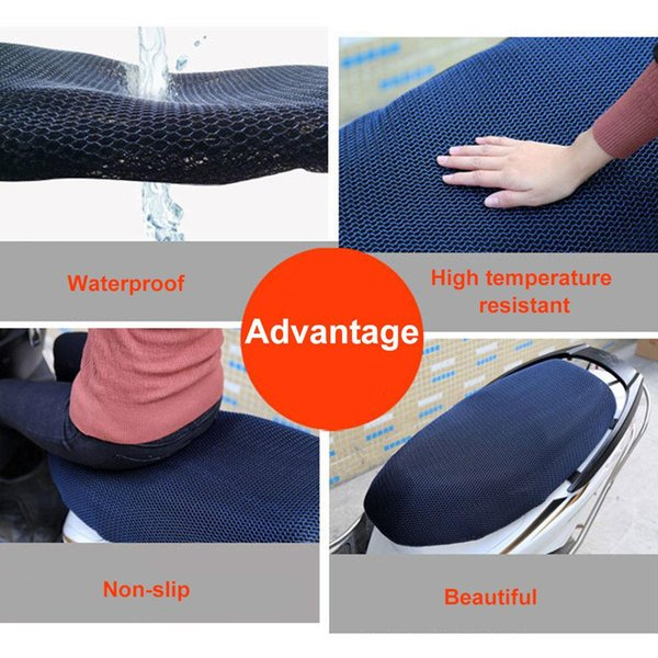 Vehemo Mesh Air Pad Cycling Seat Cover Black Seat Cushion Scooter Slow Rebound Motorbike