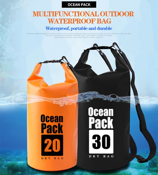 PVC Outdoor Backpack Kayaking Canoeing Ocean Pack Waterproof Dry Bag Sack