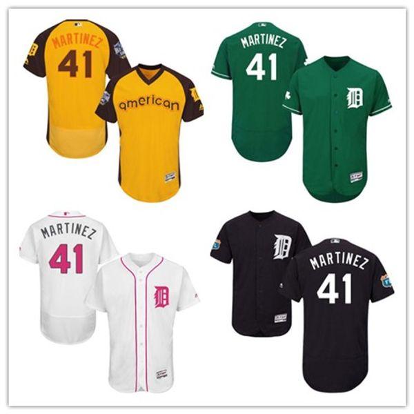 Detroit #41 Victor Martinez Jersrys Tigers men#WOMEN#YOUTH#Men's Baseball Jersey Majestic Stitched Professional sportswear