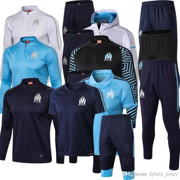 201819 new Olympique de Marseille tracksuit soccer jacket Maillot De Foot 18 19 PAYET L.GUSTAVO THAUVIN OM Football jacket Training suit
