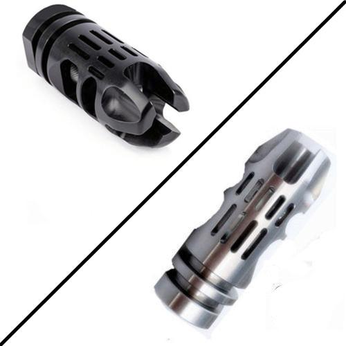 F&N Tactical 1 2-28 TPI Thread Steel Caliber Muzzle Brake Compensator With Free Crush Washer For.223 5.56