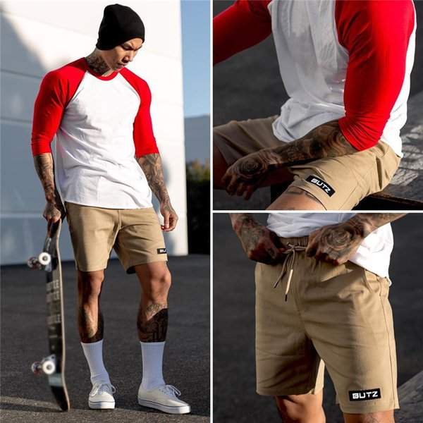 Men Bermuda Shorts New Breathable Shorts Brand Fitness Bodybuilding Jogger Mens Sweatpants Fitness Workout Polyester Quick Dry
