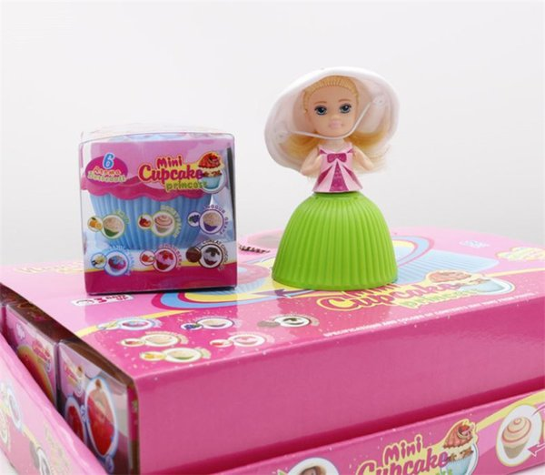 top popular Wholesale Christmas Gift Cake Princess Mini Doll Novelty Girl Children's Toys Small Cake Girl 2020