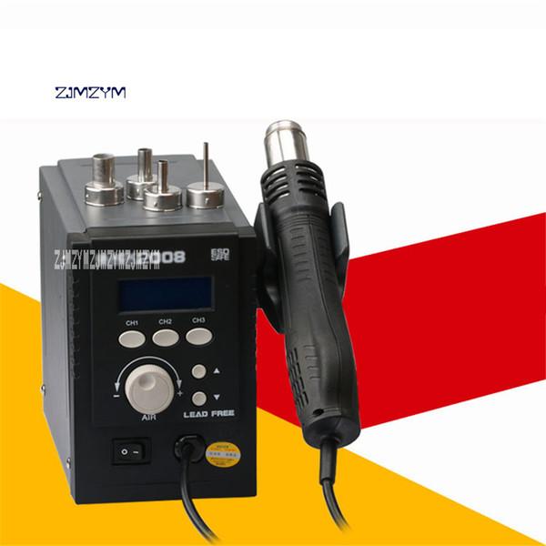 Yüksek Kalite 2008ESD Isı tabancası Dijital Görüntü Anti-statik Kurşunsuz Sıcak Hava Tabancası 110V / 220V 700W 120L / Dak 100-500 Derece Sıcak Satış