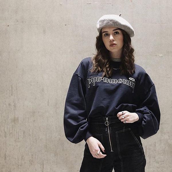 Großhandel 18FW Gosha Rubchinskiy Crewneck Übergroßen Pullover Retro Straße Hip Hop Mode Männer Und Frauen Paar 4 Farbe Rundhals Pullover Von