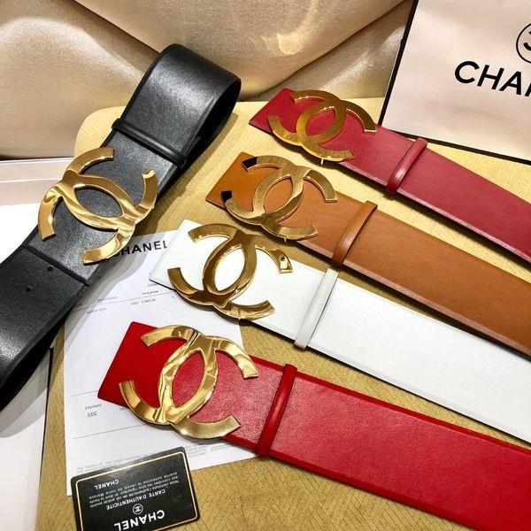 2019 femelle célèbre marque business boucle ceinture de luxe noir ceinture avec grand boucle d'or ceinture cadeau femme
