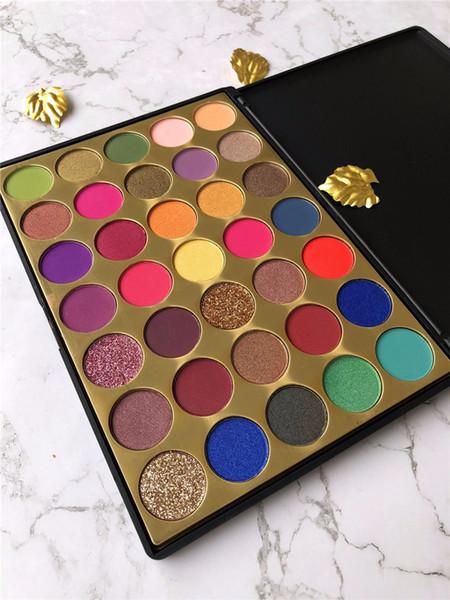 Dropshipping 2019 35 tonalità ombretto piacevole pigmento glitter shimmer ombretto spedizione gratuita 35g3 lunga durata ombretto tavolozza