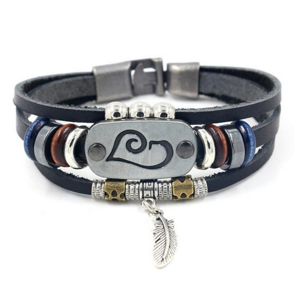 New Arrive Vintage Mens Multilayer Leather Bracelet Beaded Feather Pendant Raja Vegas Charm Braided Women men gift Pulseira Masculina