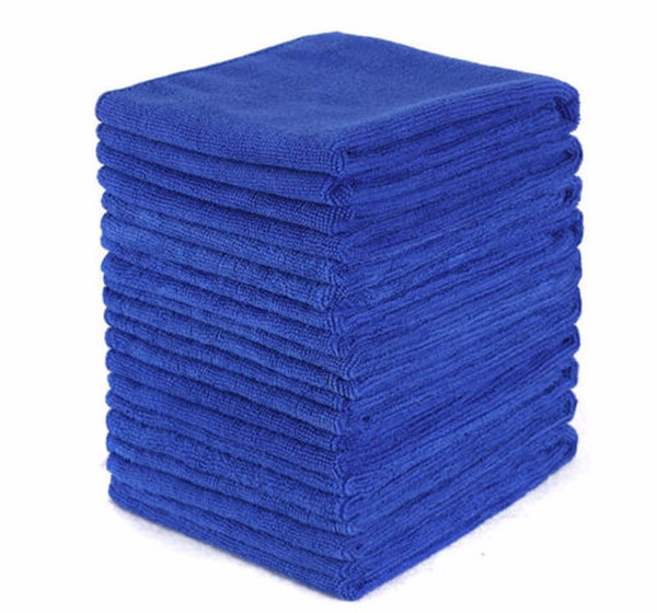10PCS Blue Absorbent Microfiber Towel Car Home Kitchen Washing Clean Wash Cloth With great water absorbent ability 2019june20