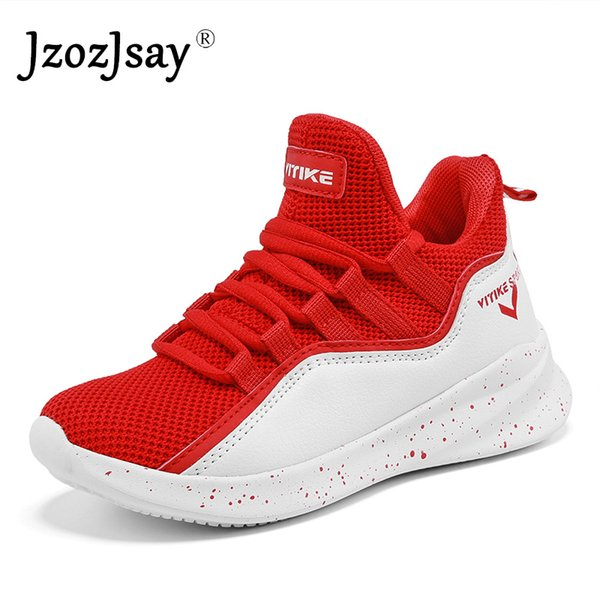 Kids Sneakers Shockproof Air Breathable Sports Trainers Running Shoes Boys Black