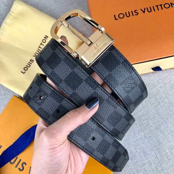 fashionable designer belts luxury belt brand mens woman leather belt casual gold sliver needle buckle width 34mm with package, Black;brown