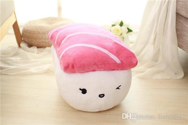 20170603 Plush Doll Cute Creative Japan Sushi Pillow Children's Toys Boys And Girls Birthday Gifts Ctue