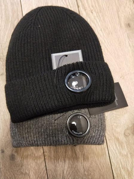 CP COMPANY Beanies Männer Herbst Winter dick gestrickte Mützen Schädel Frauen Outdoor-Sport-Hüte Mützen schwarz grau