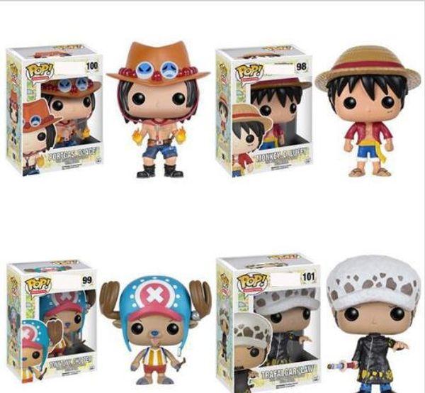 Novo 4 estilos Funko POP Anime: One Piece trafalgar lei de Ação de Vinil Figura Com Caixa # 100 Popular Brinquedo Gify