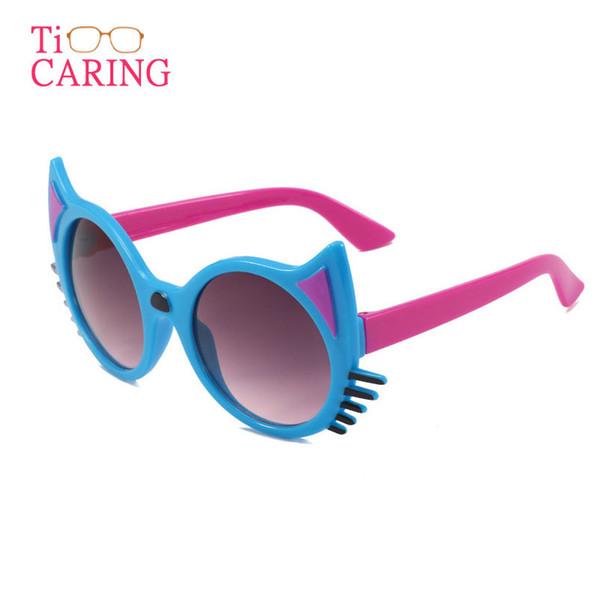 3pcs Cat Eye Designer Sunglasses for Children Fashion Girl Boy Cute Sun glass Kids Gradient Lovely Eyewear