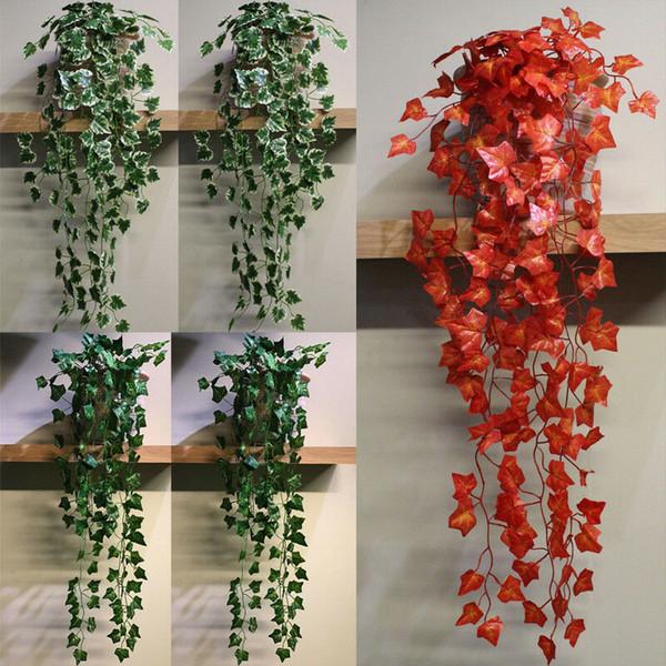 Artificial Succulents Pearls Fleshy Green Vine Flowers Hanging Rattan Decor