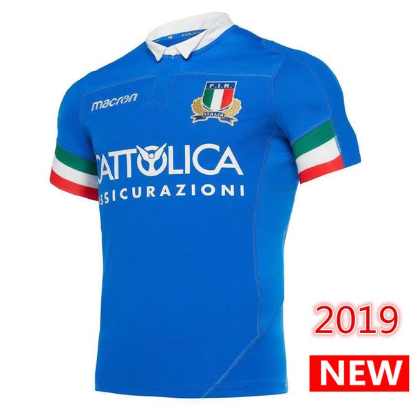 2019 2020 ITALIA 홈 어웨이 럭비 유니폼 FIR 셔츠 ITALIA 대표팀 이탈리아 리그 유니폼 S-3XL 무료 배송