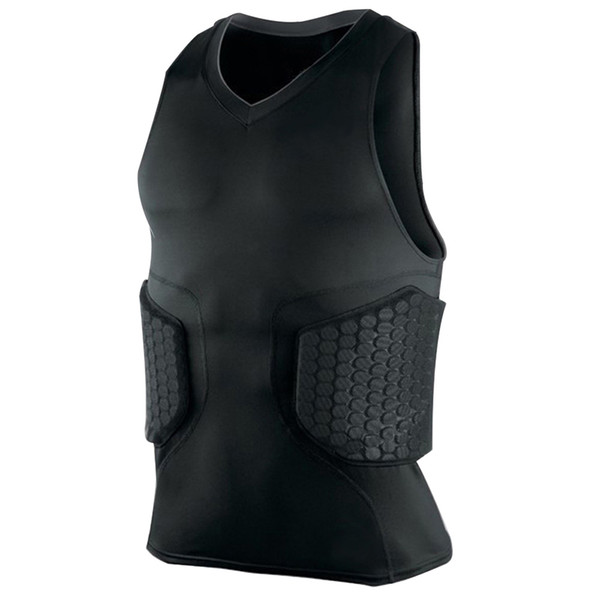 2018 outdoor men tactical vest honeycomb v-neck sleeveless collision quick-drying vest tight jackets thumbnail