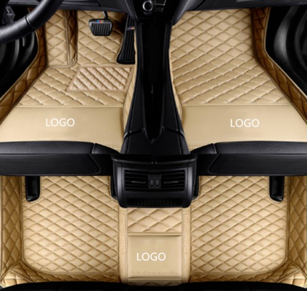 BMW X5M 2010-2014 Auto Fußmatte Luxus umgeben von wasserdichtem Leder abriebfeste Verdickung Auto Matte mit Logo