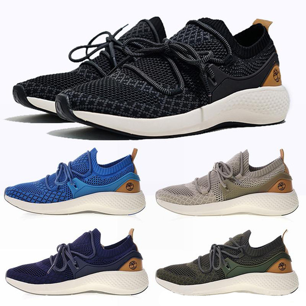 Timberland FlyRoam Go Knit Oxford Boots Shoes Aerocore Shoes Earth Color For Men Women Hiking Wilderness Shoes Shoes For Women Desert Boots From