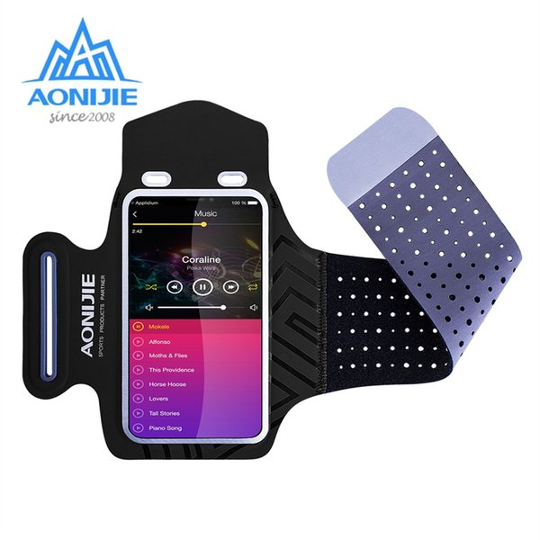 AONIJIE A892 Water Resistant Cell Mobile Phone Sports Running Armband Arm Bag Jogging Case Holder Cover For Fitness Gym Workout #86499